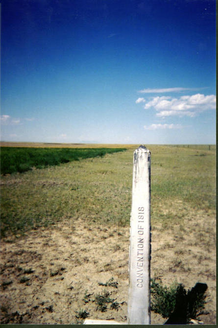 Looking west along the Alberta/Montana border