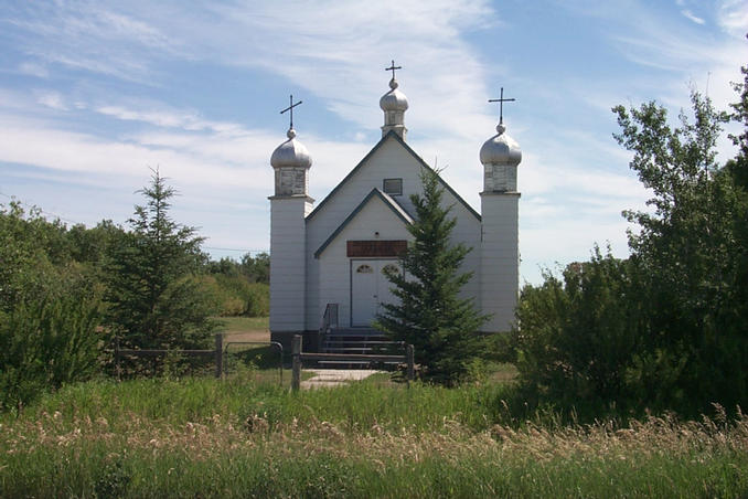 Sacred Heart Ukrainian Catholic Church situated near the confluence.