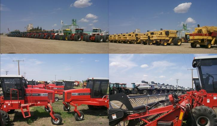Kinistino - a center for farm equipment sales.