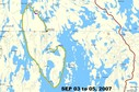 #8: Map showing travel SEP 03 to 05