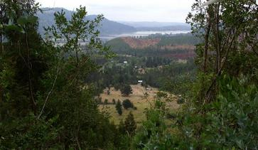 #1: View over and past the confluence to the Rio Bio Bio over the town of Patagua