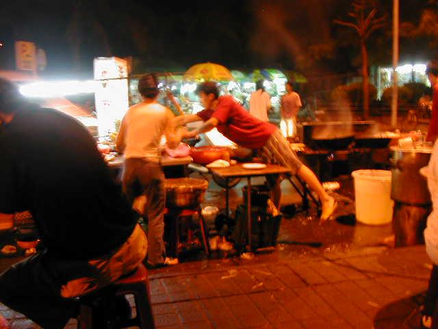 Haikou night food stall