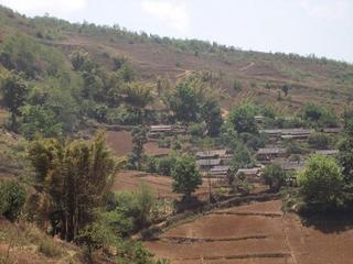 #1: South view contains the nearby village of Pin Zhan Jie.