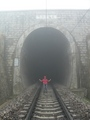 #6: Chánghǎizǐ railway tunnel, within 100 m of the confluence, which is off to the right (SE).