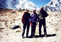 #6: Dagmara (left), Grzegorz (right) with Anna Czerwinska between us - this lady 6 weeks latter reached the top of Everest