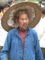 #3: Man with enormous hat in Shāgōu.