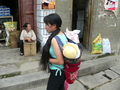 #4: Baby in backpack in Shāgōu.