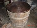 #7: Wooden barrel used for drying tea - fire inside, tea leaves go on top