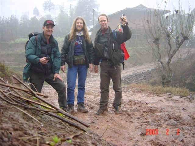 Group photo of (left to right) Richard Jones, Targ Parsons and Peter Cao