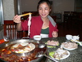 #2: Ah Feng enjoys an extremely spicy, traditional Chóngqìng hotpot dinner on her birthday.