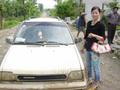 #2: The car and driver I hired for the three-and-a-half-hour, 35-kilometre journey from Longtan to Youyang