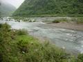 #3: River confluence, where the Dafuxi (foreground) flows south into the Niuchehe