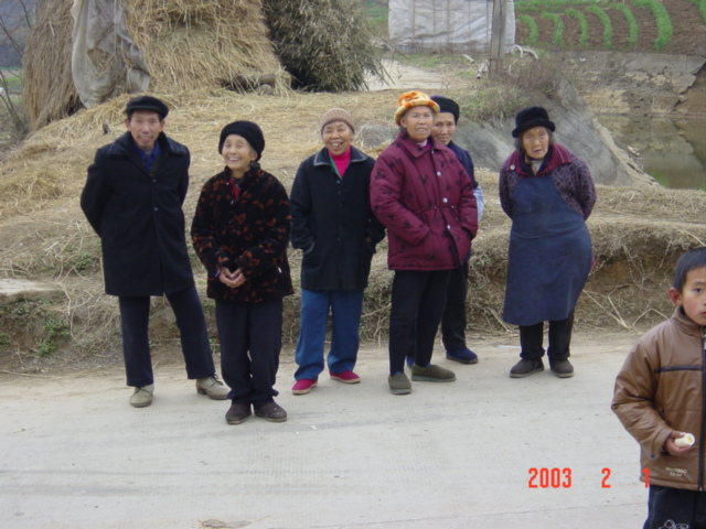 Confluence Point villagers on their way to celebrate Chinese New Year with friends and family