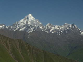 #1: Siguniang Shan (Four Maidens' Mountain) - this view was the closest we came to the confluence, 2 km away.