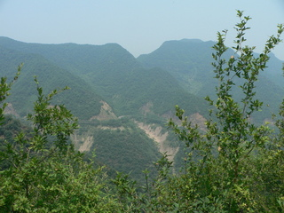 #1: Looking north, with the road just visible on the mountainside opposite