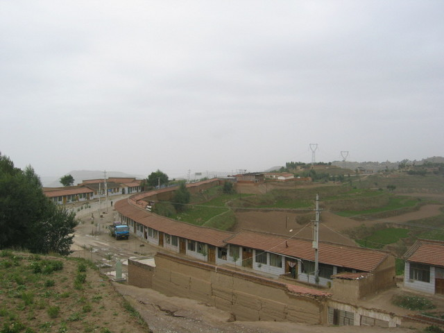 Dongxiangling Village as seen from the Monument