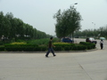 #9: Looking east; Ah Feng and our taxi on the right