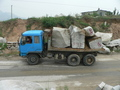 #4: Truck carrying large chunks of rock