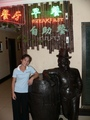 #2: Ah Feng and friend at the entrance to the Hóngdá Lóngmén Hotel's buffet breakfast
