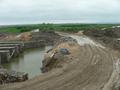 #8: Looking north, with foundations for a new bridge on the left