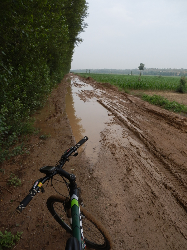 Muddy Track to the Confluence Point