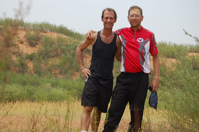 Confluence hunters - left to right: Peter and Rainer