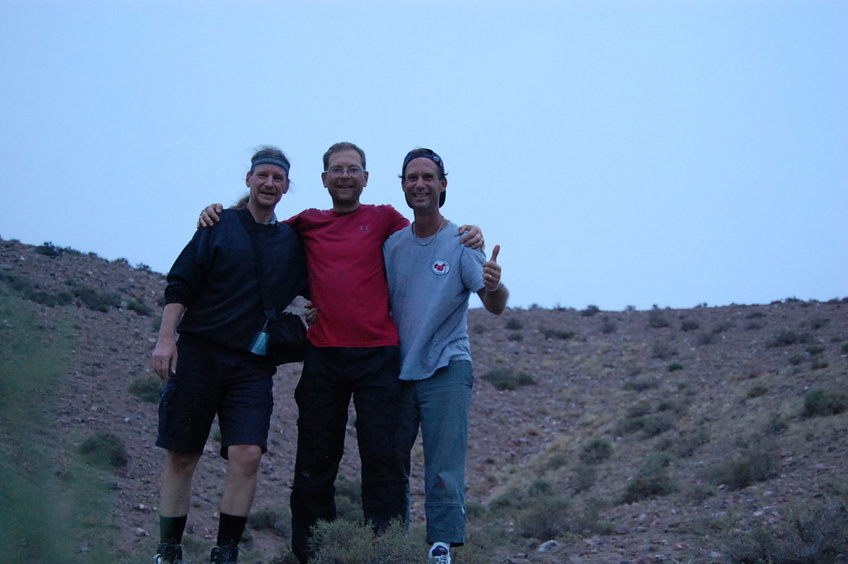 Confluence hunters - left to right: Targ, Rainer, and Peter