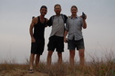 #6: Confluence hunters - left to right: Peter, Rainer, and Targ