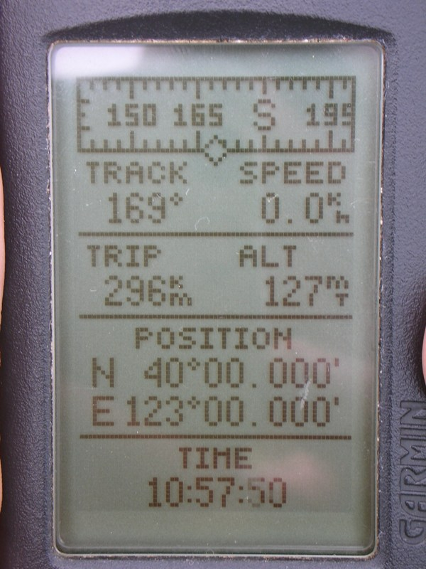 Garmin GPS II Plus position
