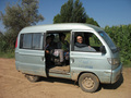 #7: Team members in mini-van which we rented from a local farmer