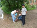 #10: Kind locals washing Andy's feet