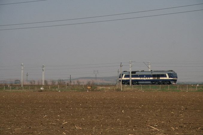 A locomotive passing