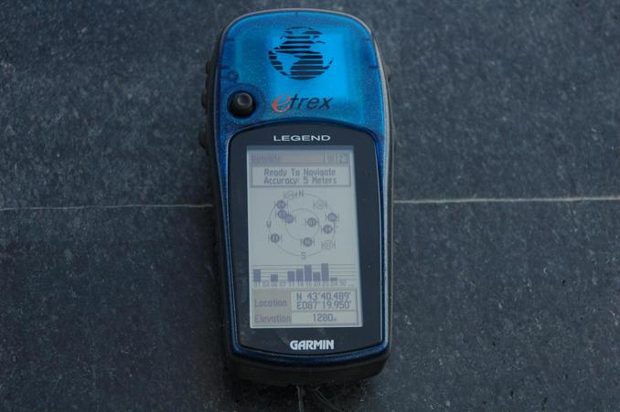 GPS Reading at the very point defined as the Geographic Center of Asia