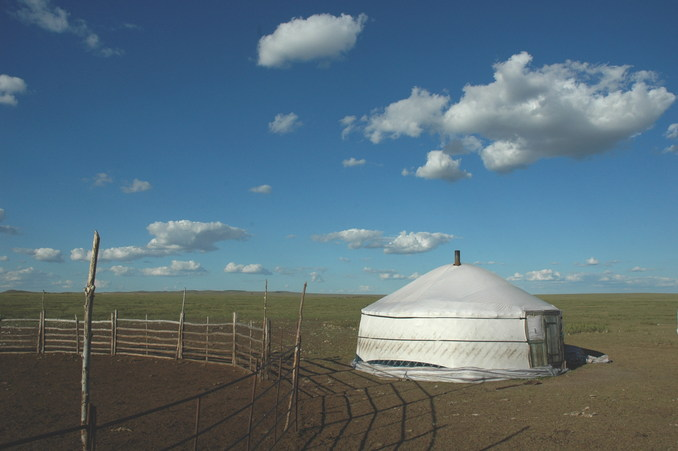 The nearest yurt from the Confluence Point about 1.5 km away