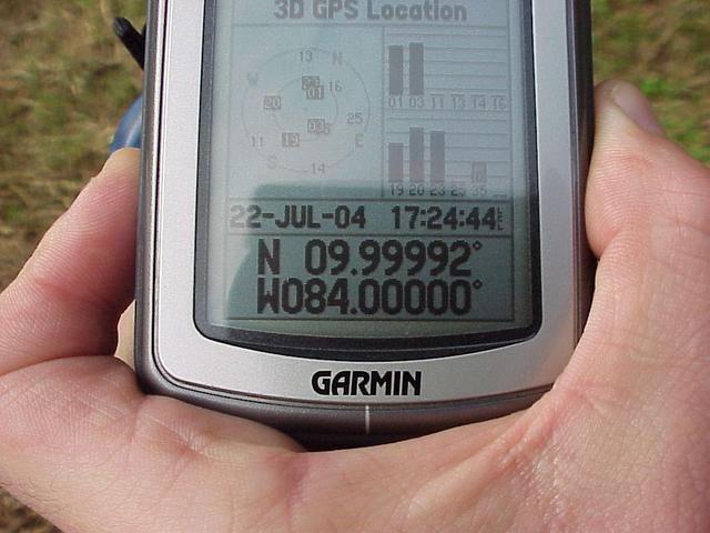 GPS unit at the confluence.