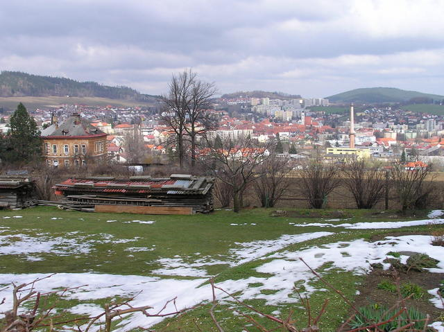 View of Prachatice (from the road near the confluence point)
