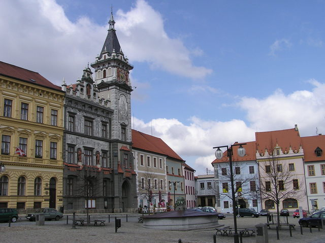 Prachatice town square