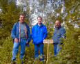 #6: Hans, Martin & Klaus together with reference plate