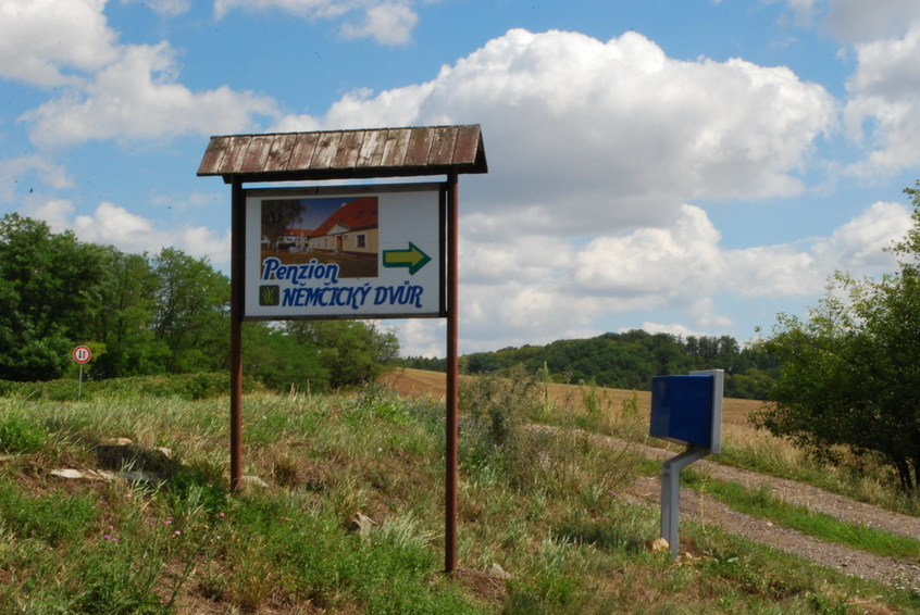 Sign advertising the farm