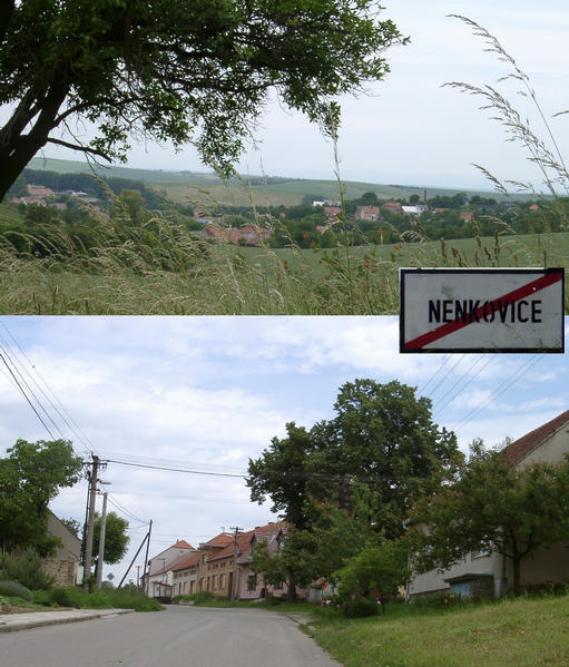 Nenkovice … the village nearby