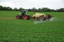 #2: A tractor spraying chemical right on the confleunce point