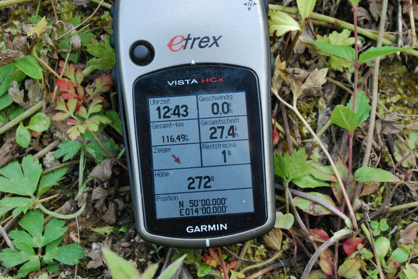 GPS reading at CP50N 14E