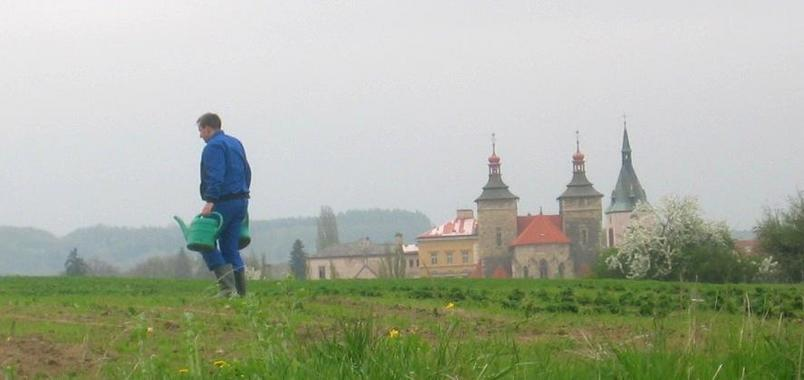 St. Stephen and a Farmer near the DCP
