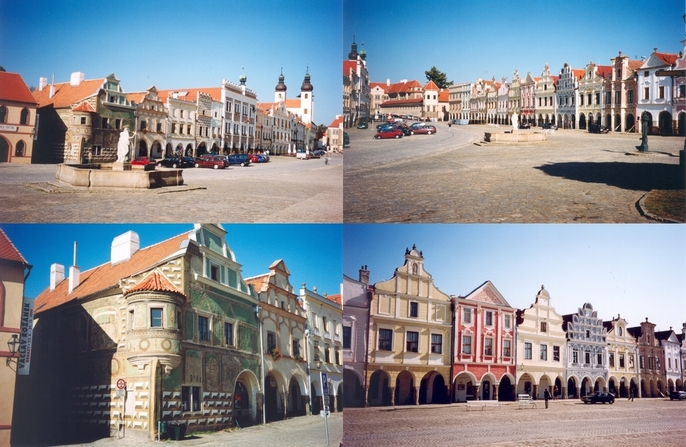 Market square in Telč