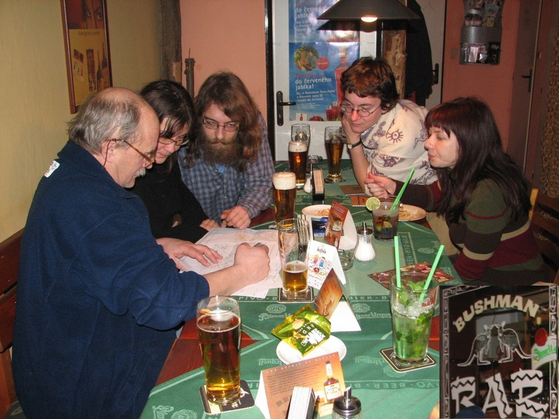"Pub ""Bushman"" in Pardubice city, Polish-Czech meeting before expedition - Spotkanie przed wyprawą na CP"
