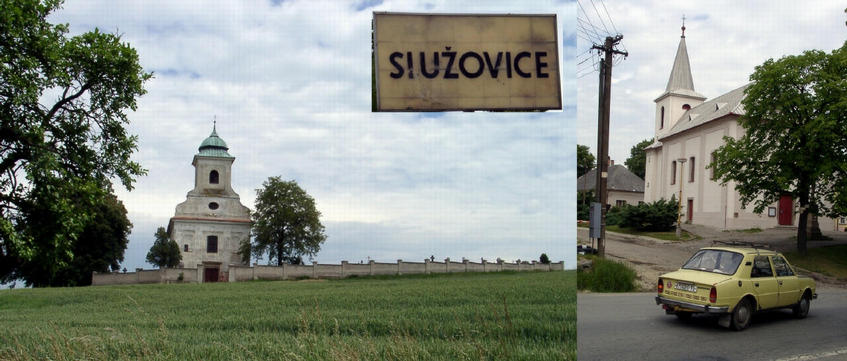 Služovice, a nice village along the way to the confluence
