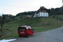 #7: TWIKE in front of the buildings, starting point