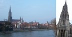 #8: The Danube River and the Ulm Cathedral with the world's highest church steeple
