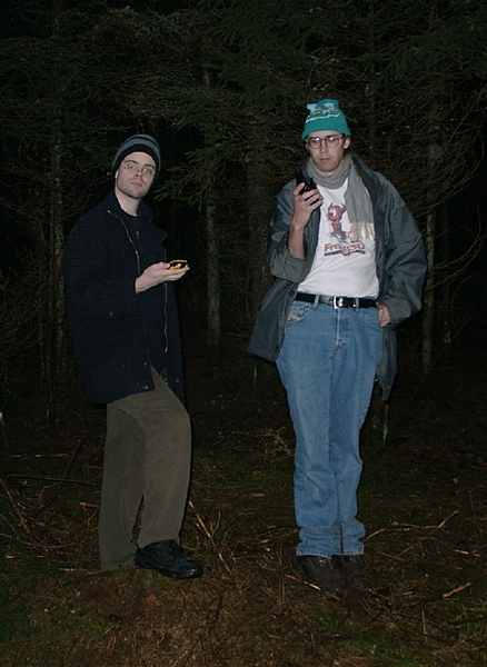 GPSing in the dark woods