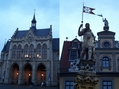 #8: Erfurt - City Hall and the statue of a Roman warrior